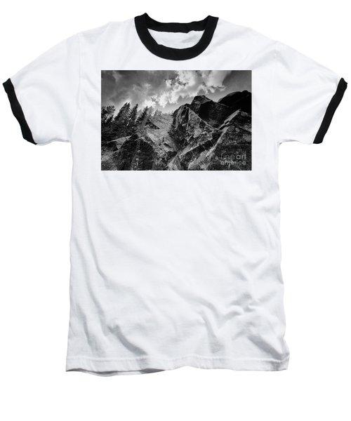 Rock #9542 Bw Version Baseball T-Shirt by Andrey Godyaykin