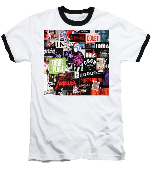 Rock And Roll Stickers Baseball T-Shirt