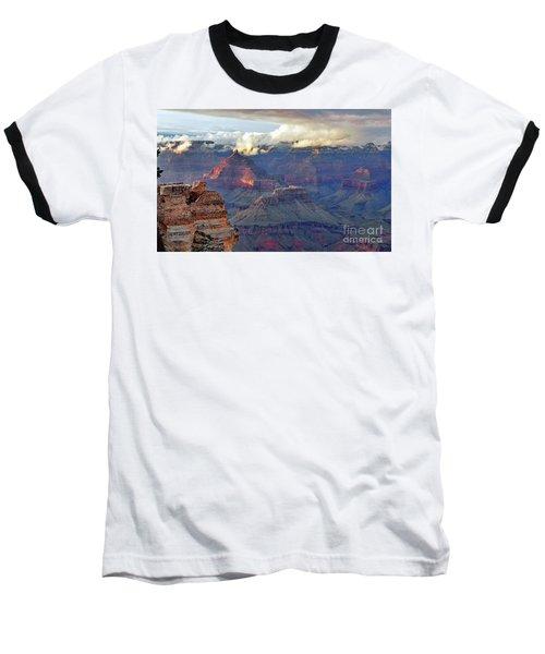Rocks Fall Into Place Baseball T-Shirt