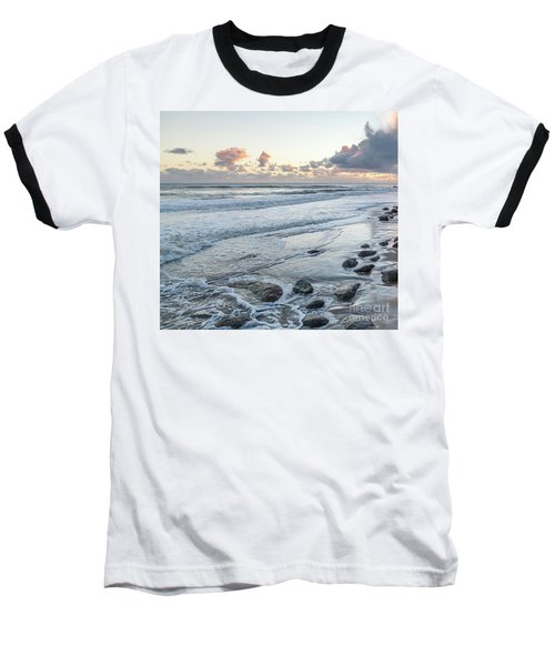 Rocks On The Beach During Sunset Baseball T-Shirt