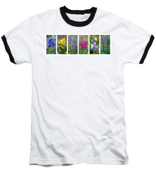 Rocky Mountain Wildflower Collection Baseball T-Shirt