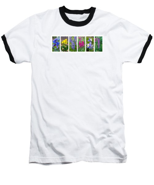 Rocky Mountain Wildflower Collection Baseball T-Shirt