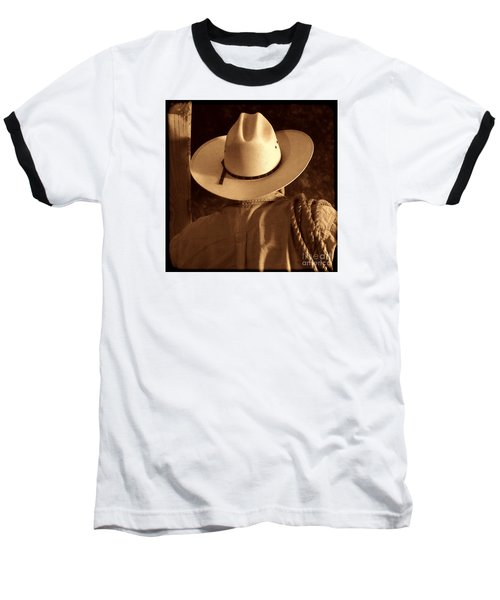 Rodeo Cowboy Baseball T-Shirt by American West Legend By Olivier Le Queinec