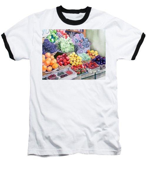Rome Market Baseball T-Shirt