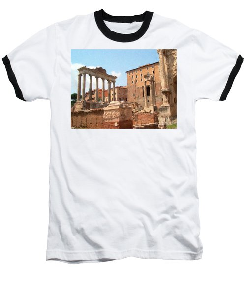 Rome The Eternal City And Temples Baseball T-Shirt