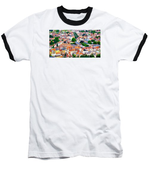 Baseball T-Shirt featuring the photograph Rooftops by Pravine Chester