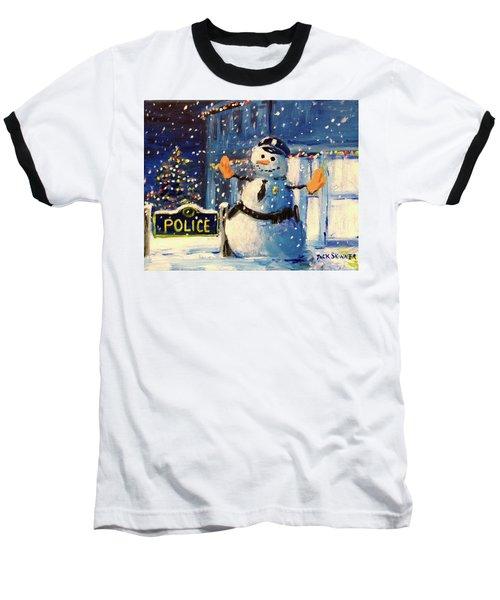 Rookie Working Christmas Eve Baseball T-Shirt
