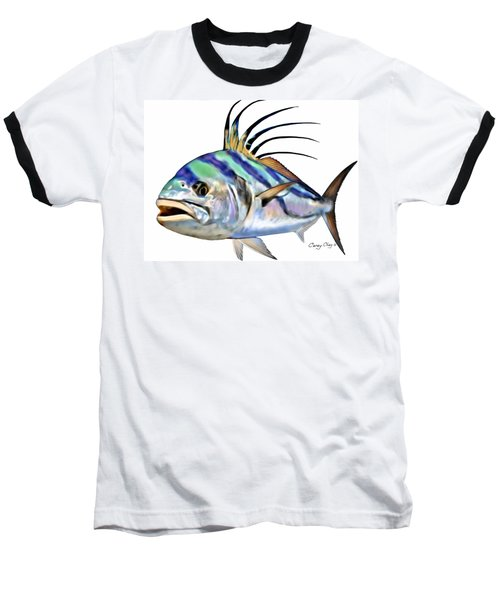 Roosterfish Digital Baseball T-Shirt by Carey Chen