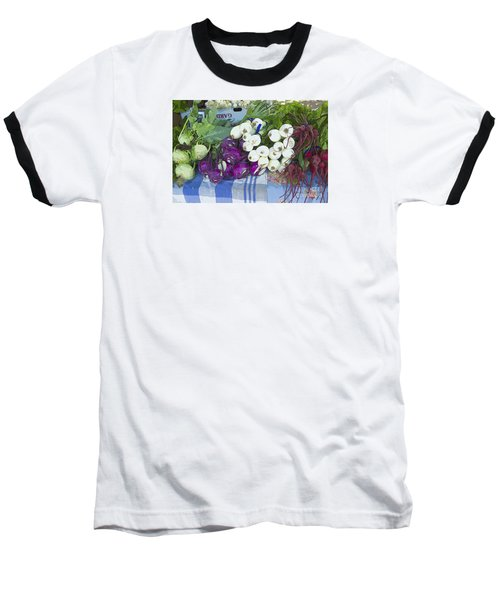 Baseball T-Shirt featuring the painting Root Vegetables by Jeanette French