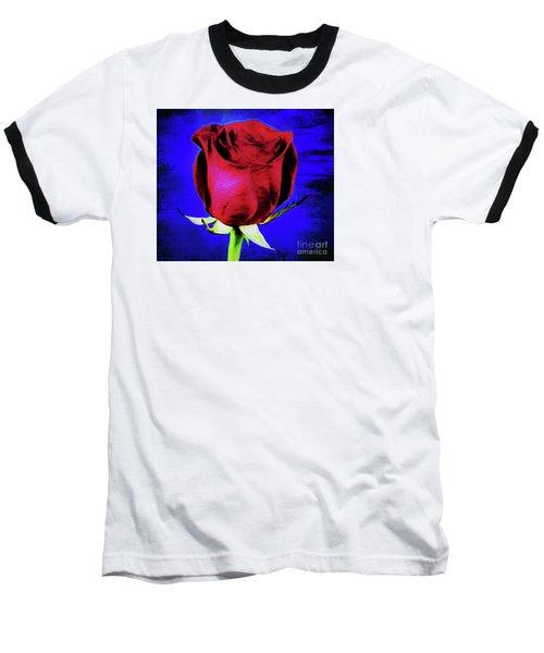 Rose - Beauty And Love  Baseball T-Shirt by Ray Shrewsberry