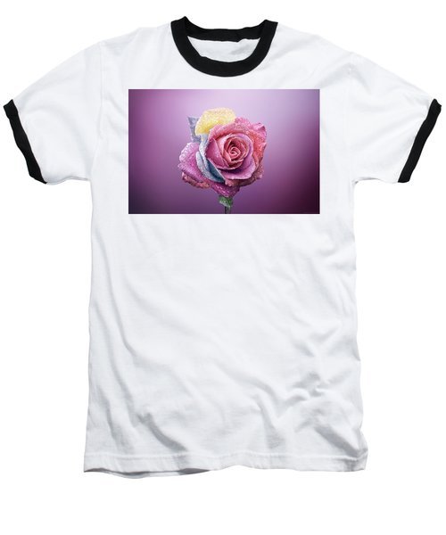 Rose Colorfull Baseball T-Shirt by Bess Hamiti