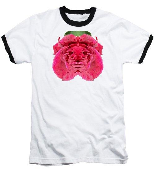 Rose Face Baseball T-Shirt