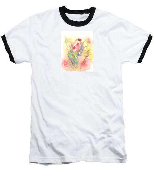 Baseball T-Shirt featuring the painting Rose Garden One by Elizabeth Lock