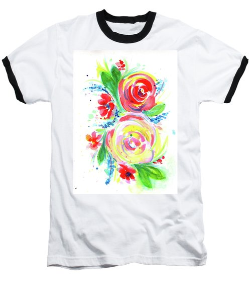 Rose Red Rose Yellow  Baseball T-Shirt