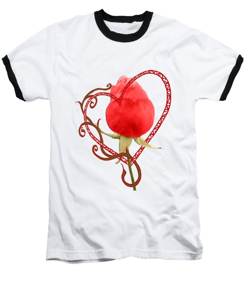 Rose Through My Heart Baseball T-Shirt