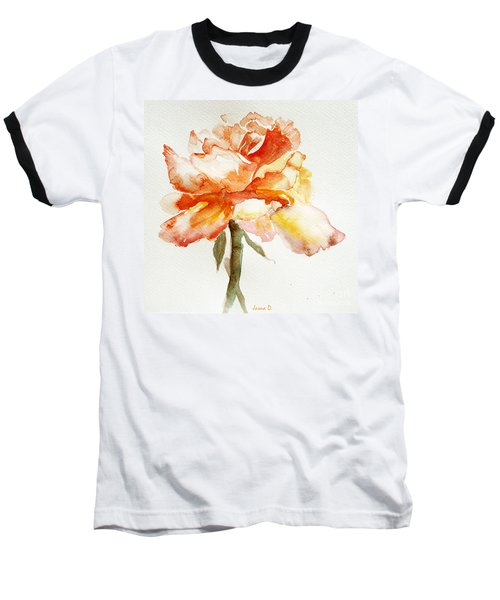 Rose Yellow Baseball T-Shirt