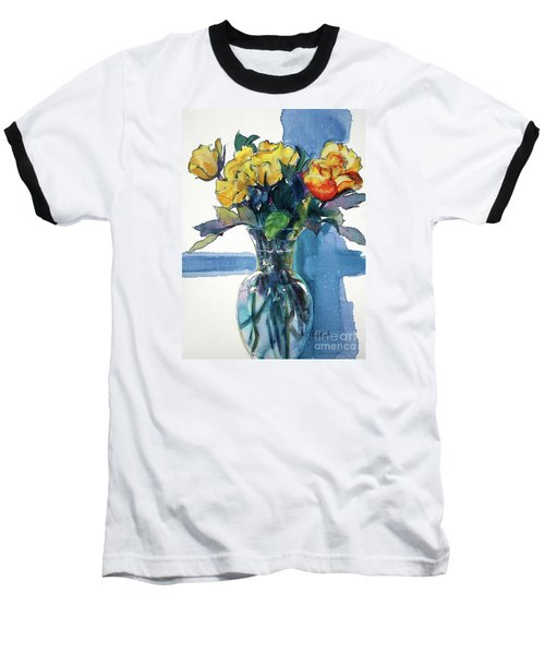 Roses In Vase Still Life I Baseball T-Shirt