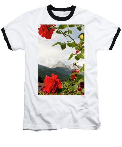 Baseball T-Shirt featuring the photograph Roses Of The Zugspitze by KG Thienemann