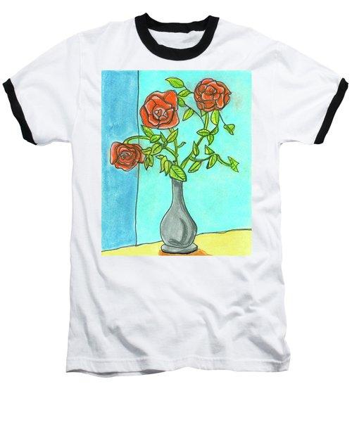 Roses R Red Baseball T-Shirt