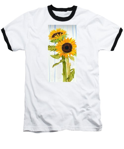 Rosezella's Sunflowers II Baseball T-Shirt by Anne Marie Brown