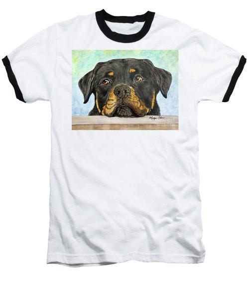 Rottweiler's Sweet Face 2 Baseball T-Shirt