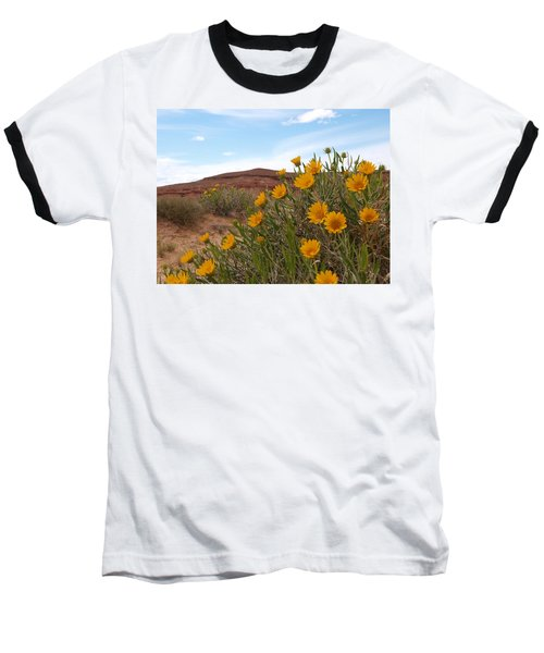 Baseball T-Shirt featuring the photograph Rough Mulesear Flowers by Jenessa Rahn
