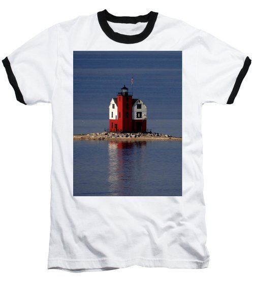 Round Island Lighthouse In The Morning Baseball T-Shirt