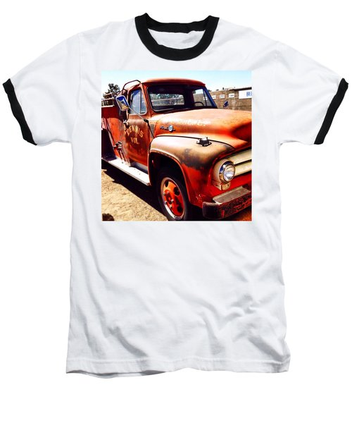 Route 66 Baseball T-Shirt by Mark David Gerson