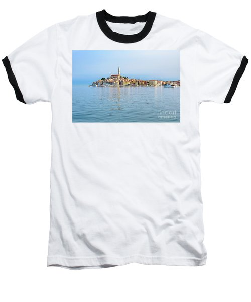 Rovinj In The Early Morning Fog, Istria, Croatia Baseball T-Shirt