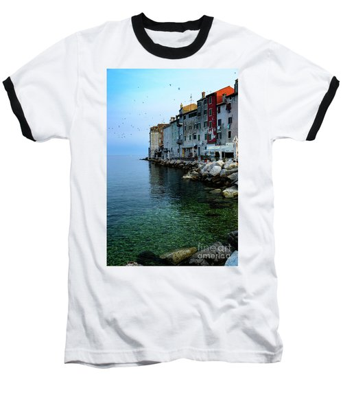 Rovinj Venetian Buildings And Adriatic Sea, Istria, Croatia Baseball T-Shirt