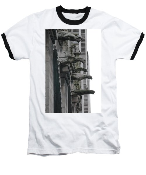 Baseball T-Shirt featuring the photograph Row Of Gargoyles by Christopher Kirby