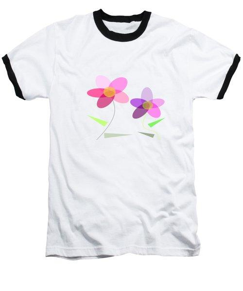 Rows Of Flowers Baseball T-Shirt by Kathleen Sartoris