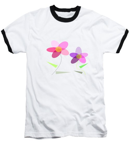 Rows Of Flowers Baseball T-Shirt