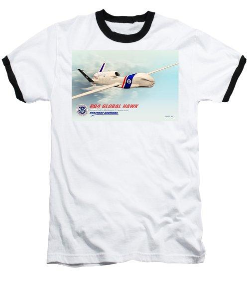 Rq4 Global Hawk Drone United States Baseball T-Shirt
