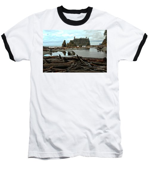 Ruby Beach Driftwood Baseball T-Shirt