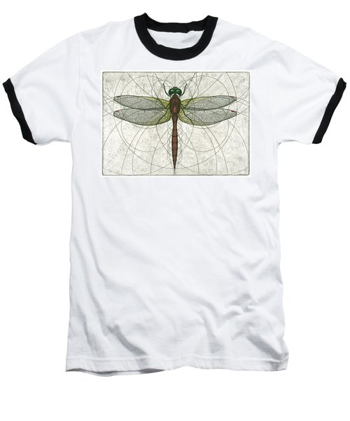 Ruby Meadowhawk Dragonfly Baseball T-Shirt