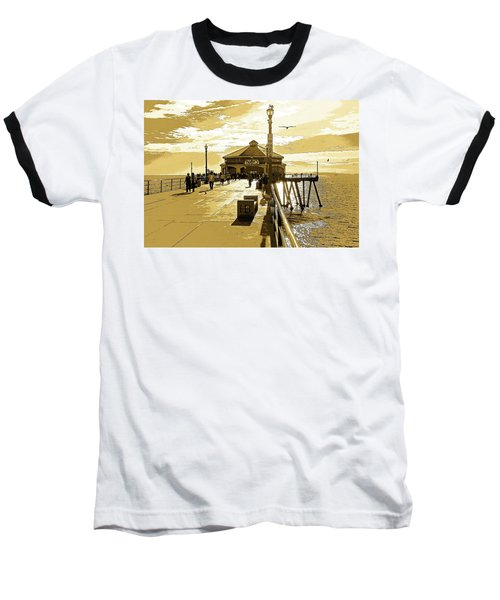 Ruby's At The Pier Baseball T-Shirt by Everette McMahan jr