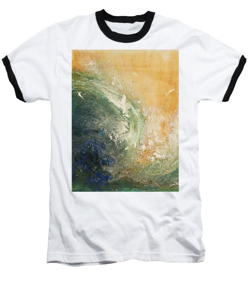 Rugged Coast Aerial View Baseball T-Shirt