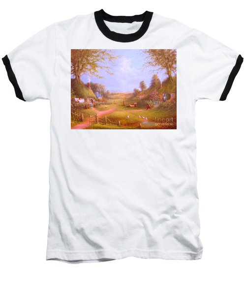 Run Bilbo Late For An Appointment Baseball T-Shirt by Joe  Gilronan