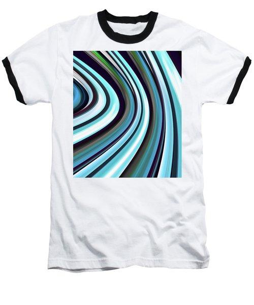 Baseball T-Shirt featuring the digital art Running Blue by Wendy J St Christopher