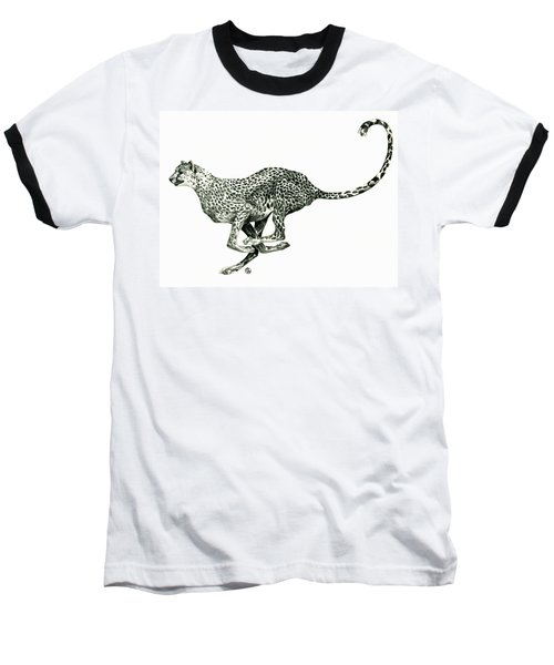 Running Cheetah Baseball T-Shirt