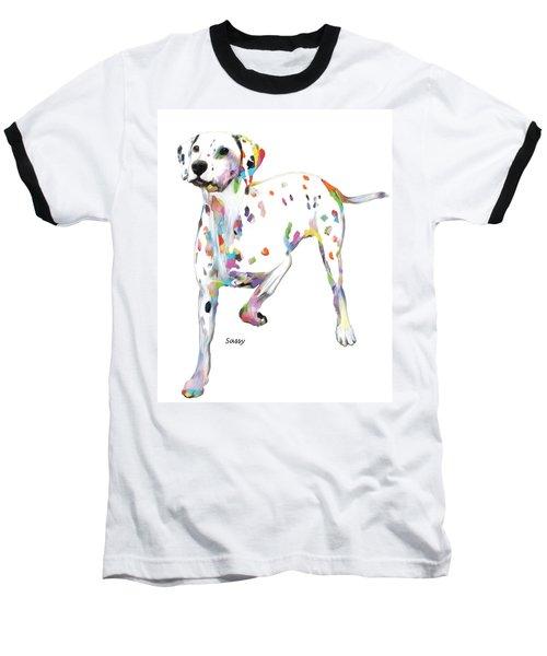 Running Dalmatian Baseball T-Shirt