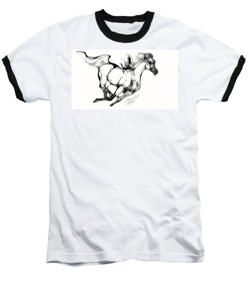 Running Horse Baseball T-Shirt
