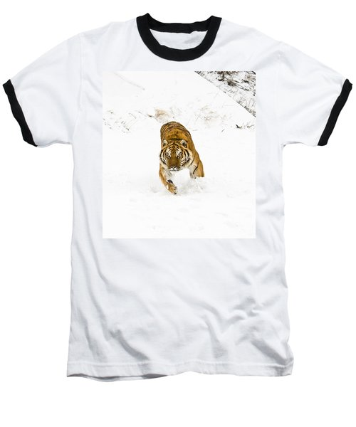 Running Tiger Baseball T-Shirt