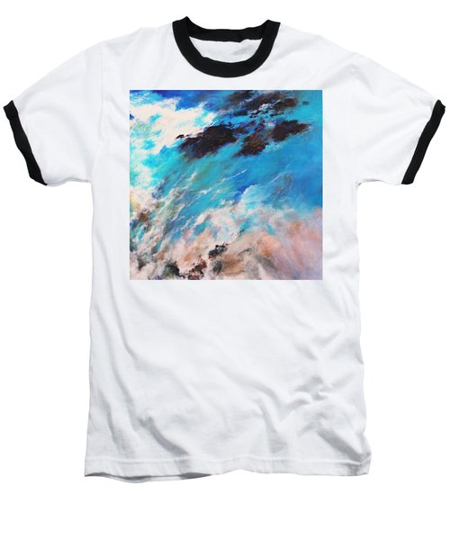 Baseball T-Shirt featuring the painting Rushing Water by M Diane Bonaparte