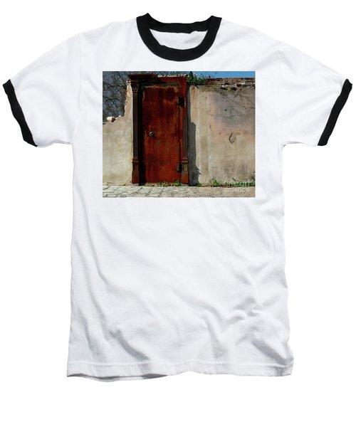 Baseball T-Shirt featuring the photograph Rustic Ruin by Lori Mellen-Pagliaro