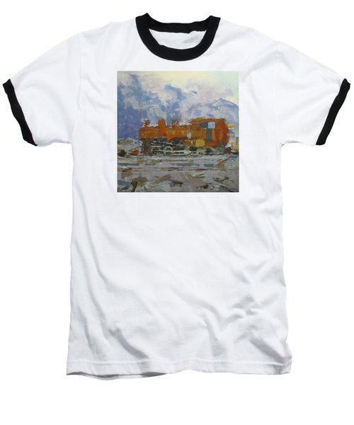 Rusty Loco Baseball T-Shirt by David Gilmore