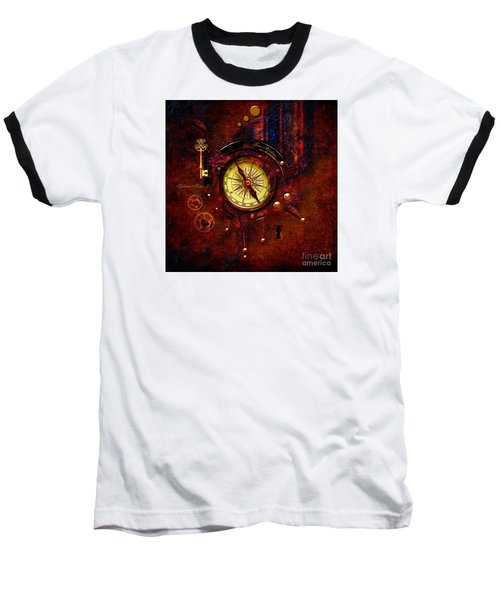 Rusty Time Machine Baseball T-Shirt by Alexa Szlavics