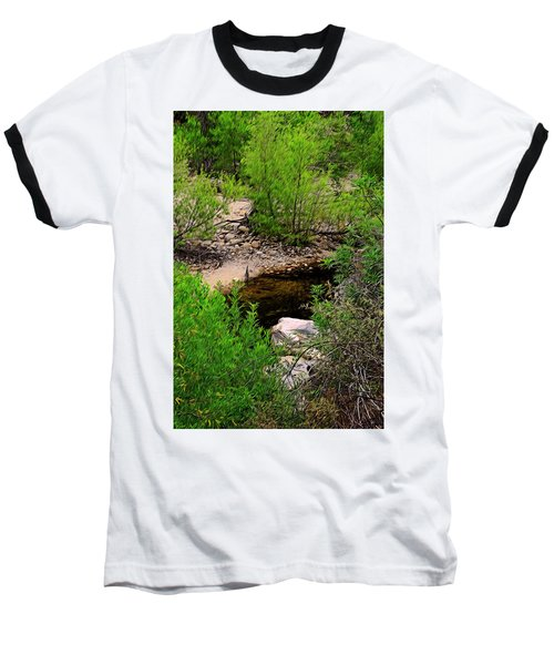 Baseball T-Shirt featuring the photograph Sabino Canyon Op44 by Mark Myhaver