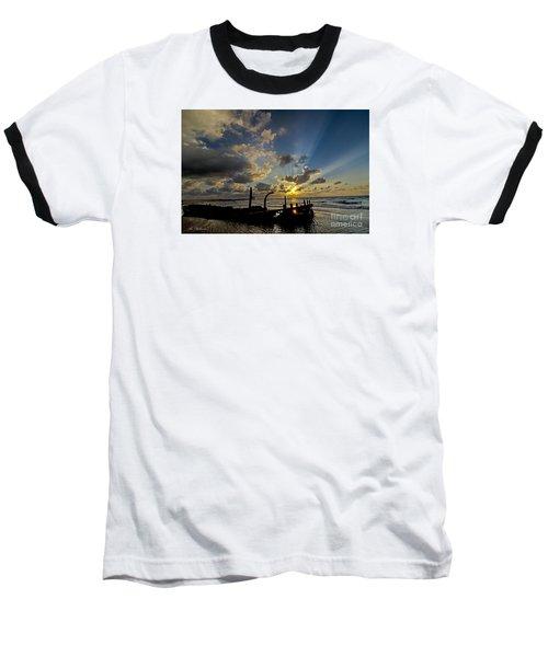 Safe Shore 03 Baseball T-Shirt by Arik Baltinester